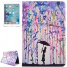 For iPad Mini 4 Rain Pattern Flip PC + PU Leather Case with Holder & Card Slots