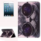 For iPad Mini 1/2/3 Cat Pattern Horizontal Flip Leather Case with Holder