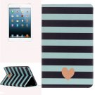 For iPad Mini 1/2/3 Stripe Pattern Horizontal Flip Leather Case with Holder