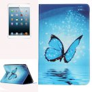 For iPad Mini 1/2/3 Butterfly Pattern Horizontal Flip Leather Case with Holder