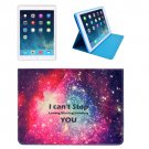 For iPad Mini 1/2/3 STOP YOU Pattern Protective PU Smart Cover Leather Case with Card Slot