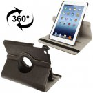 For iPad Mini 1/2/3 Coffee 360° Rotatable Litchi Texture Leather Case with Holder
