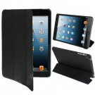 For iPad Mini 1/2/3 Black 3-fold Smart Cover PU Leather Case