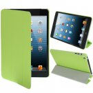 For iPad Mini 1/2/3 Green 3-fold Smart Cover PU Leather Case