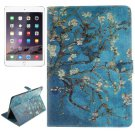 For iPad Air 2/iPad 6 Plum Pattern Leather Case with Holder, Card Slots & Wallet