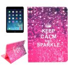 For iPad Air 2 / iPad 6 Sparkle Pattern Smart Cover Leather Case with Holder & Card Slots