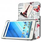 For Acer Iconia One 8 Newspaper Pattern Leather Case with 3 fold Holder