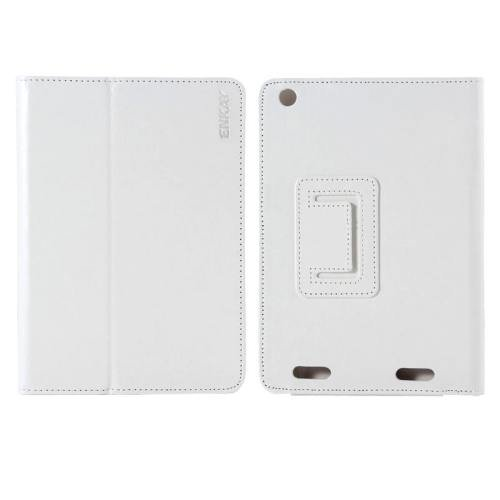 For Acer Iconia A1-830 White ENKAY Crazy Horse Leather Case with Holder