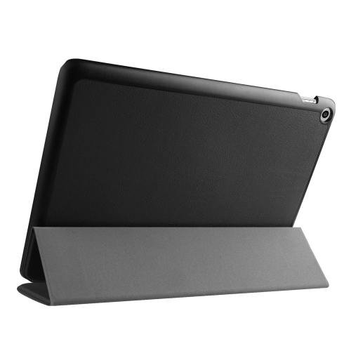 For ASUS Zenpad 10 Black Custer Flip Leather Case with 3 fold Holder