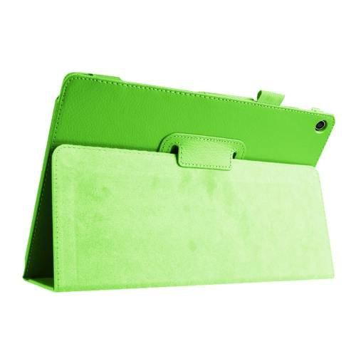 For ASUS Zenpad 10 Green Litchi Texture Flip Leather Case with Holder