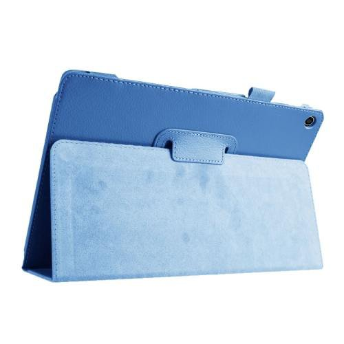 For ASUS Zenpad 10 Blue Litchi Texture Flip Leather Case with Holder