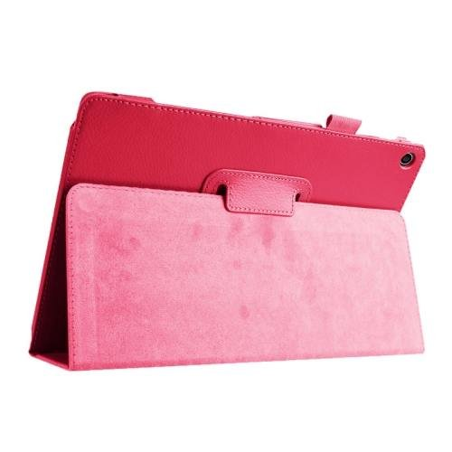 For ASUS Zenpad 10 Magenta Litchi Texture Flip Leather Case with Holder