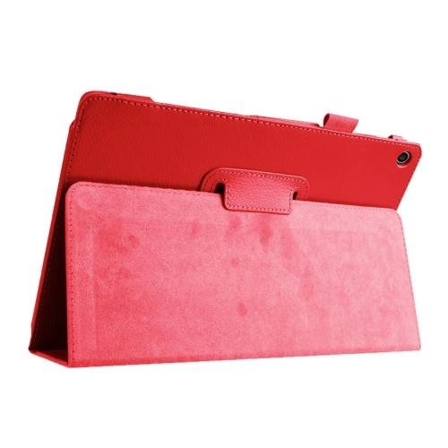 For ASUS Zenpad 10 Red Litchi Texture Flip Leather Case with Holder