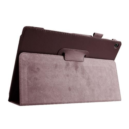For ASUS Zenpad 10 Brown Litchi Texture Flip Leather Case with Holder