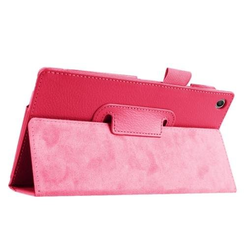 For ASUS Zenpad 7.0 Magenta Litchi Texture Flip Leather Case with Holder