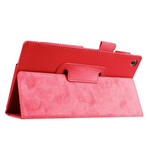 For ASUS Zenpad 7.0 Red Litchi Texture Flip Leather Case with Holder