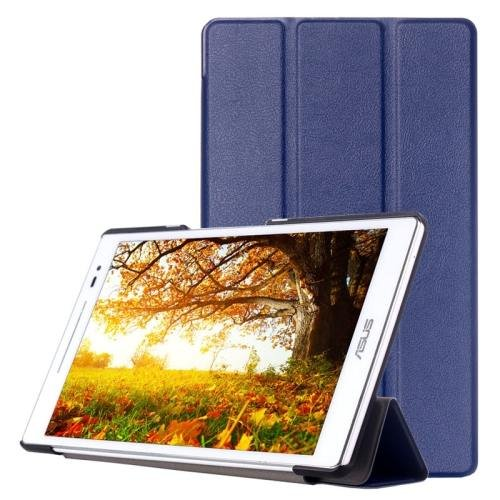 For ASUS Zenpad 8.0 Dark Blue Custer Flip Leather Case with 3 Fold Holder