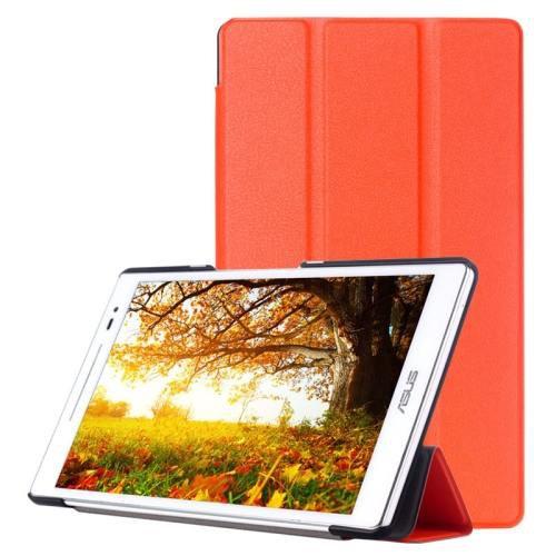 For ASUS Zenpad 8.0 Orange Custer Flip Leather Case with 3 Fold Holder
