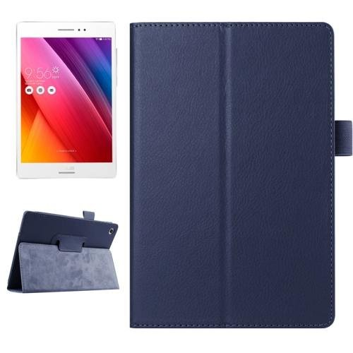For ASUS Zenpad S 8.0 Dark Blue Litchi Smart Cover Leather Case with Holder