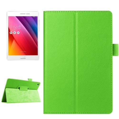 For ASUS Zenpad S 8.0 Green Litchi Smart Cover Leather Case with Holder