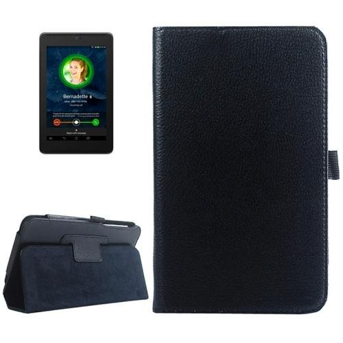 For ASUS Fonepad 7 Black Litchi Texture Leather Case with Holder
