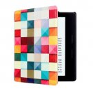 For Amazon Kindle Oasis Cube Pattern Horizontal Flip Leather Case