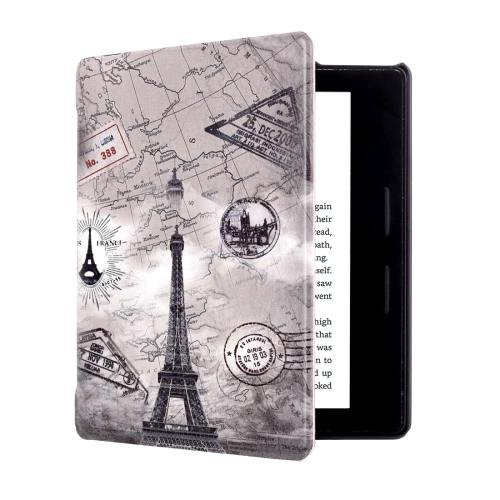 For Amazon Kindle Oasis Tower Pattern Horizontal Flip Leather Case