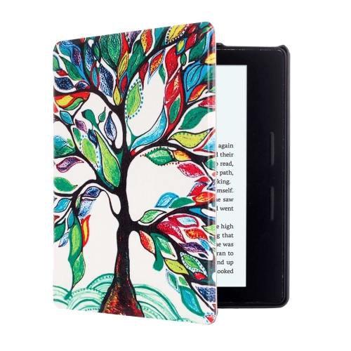 For Amazon Kindle Oasis Tree Pattern Horizontal Flip Leather Case