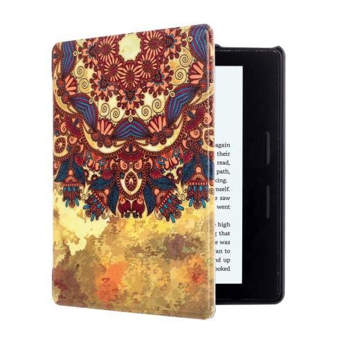 For Amazon Kindle Oasis Tribe Pattern Horizontal Flip Leather Case