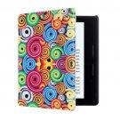 For Amazon Kindle Oasis Corkscrew Pattern Horizontal Flip Leather Case