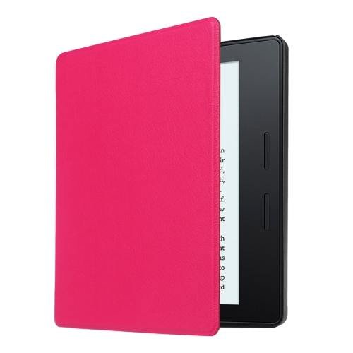 For Amazon Kindle Oasis Magenta Custer Leather Case with 3 fold holder
