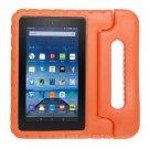 For Amazon MoKo Fire 7 Orange EVA Bumper Case with Handle & Holder