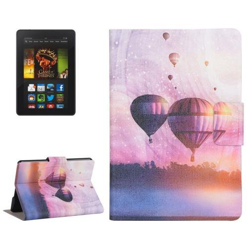For Amazon Kindle Paperwhite 2 Balloon Leather Case with Holder & Card Slots