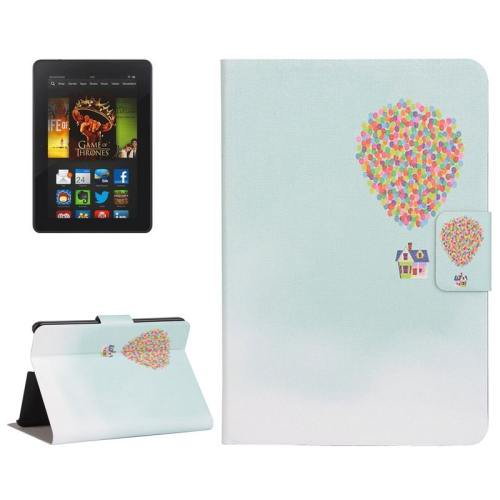 For Amazon Kindle Fire HDX 7 Balloon Leather Case with Holder & Card Slots
