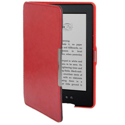 For Amazon Kindle 5 Red Crazy Horse Texture Leather Case