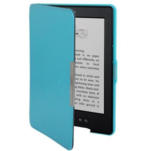 For Amazon Kindle 5 Light blue Crazy Horse Texture Leather Case