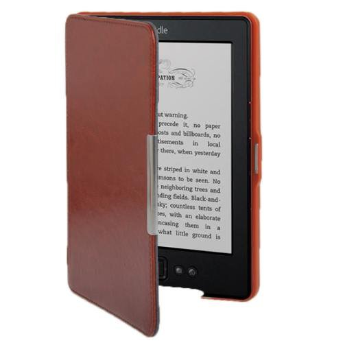 For Amazon Kindle 5 Brown Crazy Horse Texture Leather Case