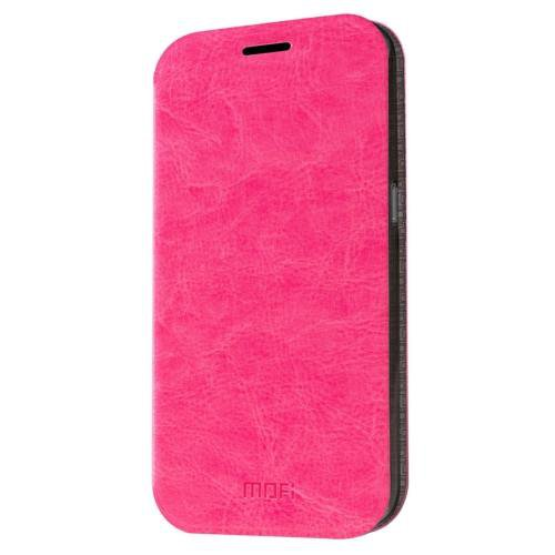 For Samsung Galaxy S7 Magenta Mofi Crazy Horse Leather Case with Holder
