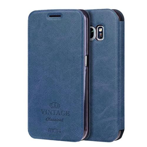 For Samsung Galaxy S7 Dark Blue Mofi Crazy Horse Leather Case with Card Slots