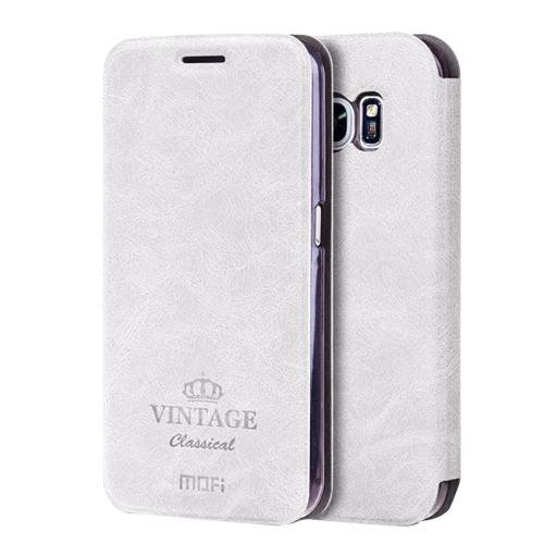 For Samsung Galaxy S7 White Mofi Crazy Horse Leather Case with Card Slots