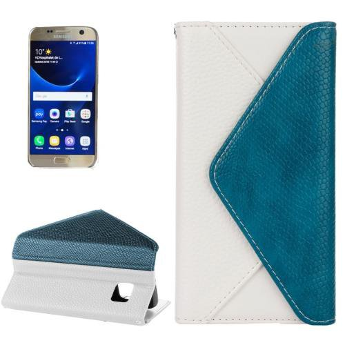 For Samsung Galaxy S7 White Envelope Style Horizontal Flip Leather Case