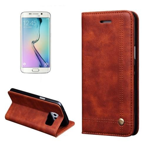 For Samsung Galaxy S7 Coffee Crazy Horse Leather Case with absorption