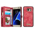 For Samsung Galaxy S7 Red CaseMe Detachable Leather Billfold Case