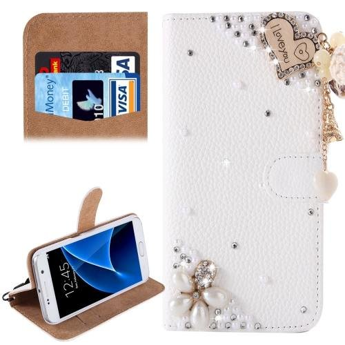 For Galaxy S7 Diamond Knot Pattern Leather Case with Magnetic Buckle