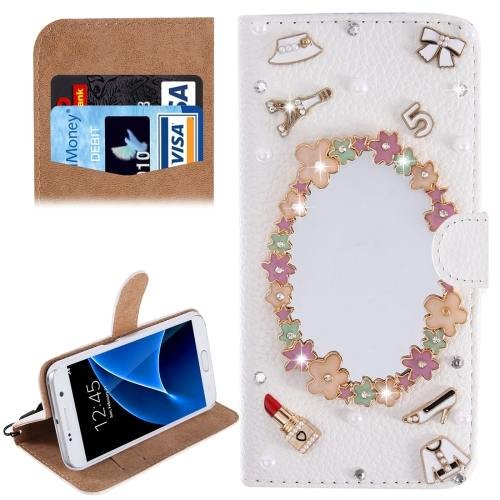 For Galaxy S7 Diamond Dresser Pattern Leather Case with Magnetic Buckle