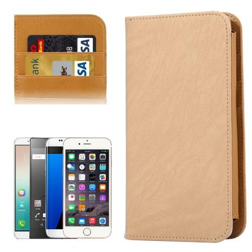 For Galaxy S7 Khaki Wallet Style Flip Leather Case with Photo Frame