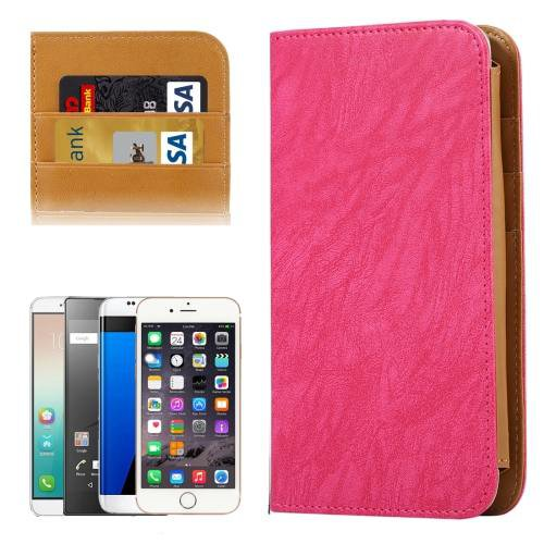 For Galaxy S7 Magenta Wallet Style Flip Leather Case with Photo Frame