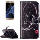 For Galaxy S7 Rilievo Redlips Leather Case with Magnetic Buckle & Card Slot