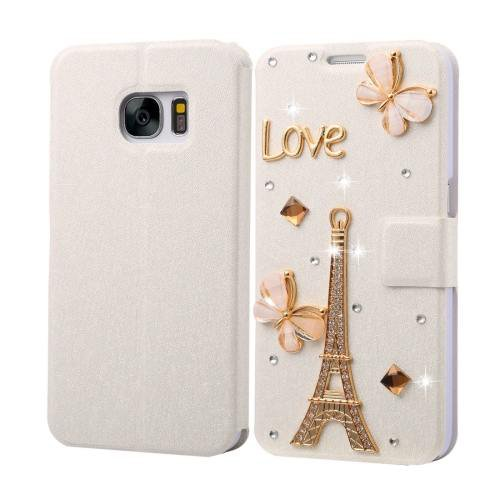 For Galaxy S7 Fevelove Diamond Tower Leather Case with Magnetic Buckle & Card Slot