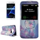 For Galaxy S7 Dreamcatcher Leather Case with Call Display ID & Holder